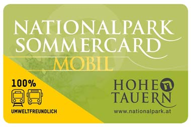 nationalpark hohe tauern sommercard
